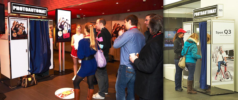 Fotoautomat on BlickFang2 Fotostudio, Filmstudio in Weinheim und Andernach