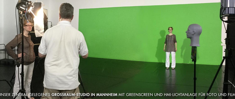 Großraumstudio in Mannheim von BlickFang2 Fotostudio, Filmstudio in Weinheim und Andernach