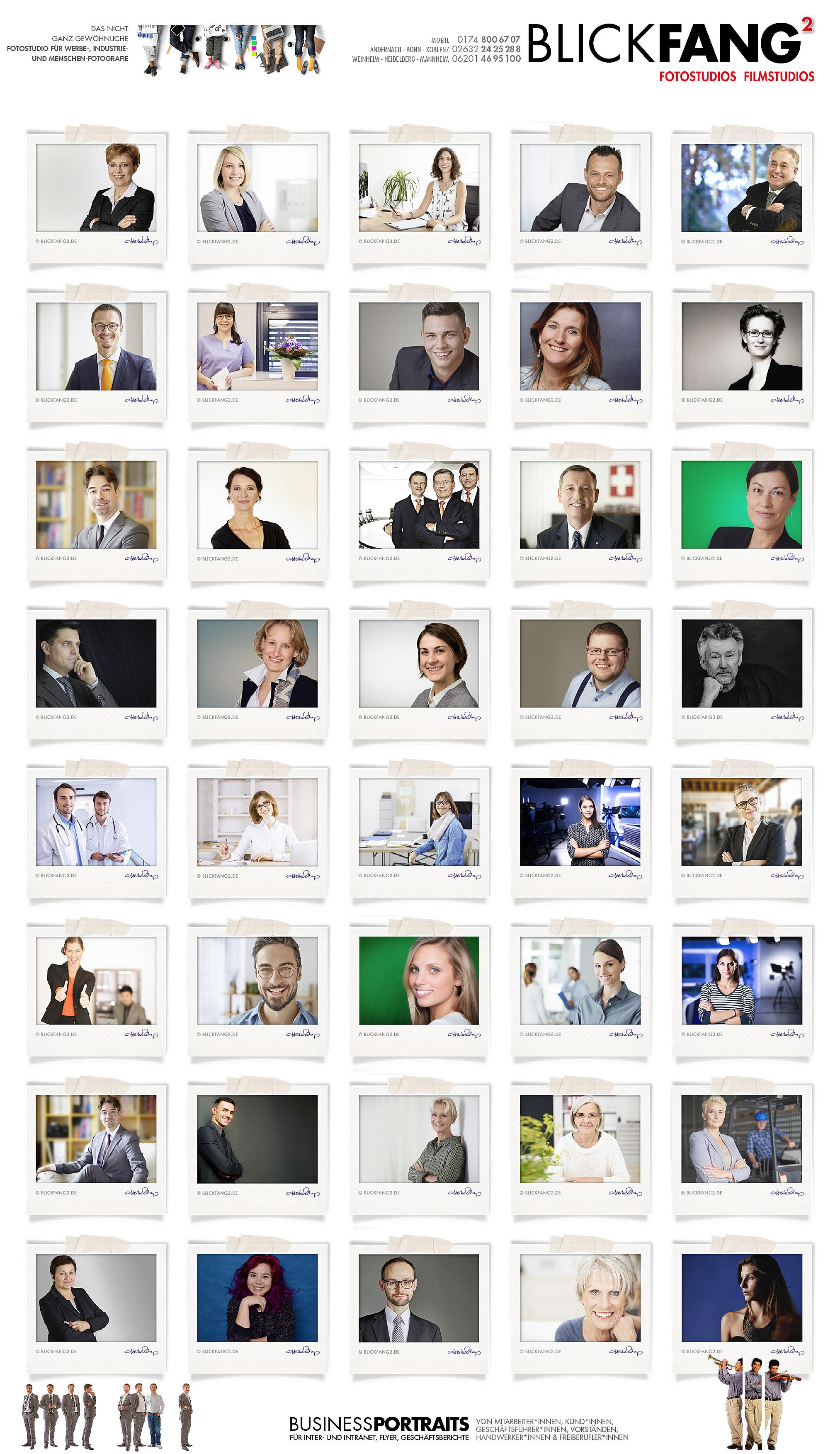 Portraitfoto, Bewerbungsfoto, Aktfoto, Industriefoto, Produktfoto @ BlickFang2 Fotostudio, Filmstudio in Weinheim und Andernach, Fotograf